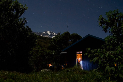 Kili By Moonlight From Machame Camp | by madpickles