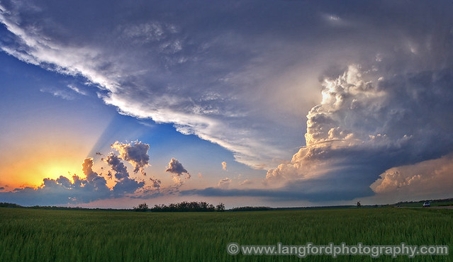 Oklahoma LP Supercell at Sunset