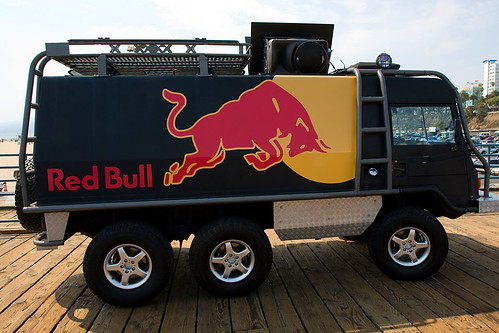 red bull utility vehicle