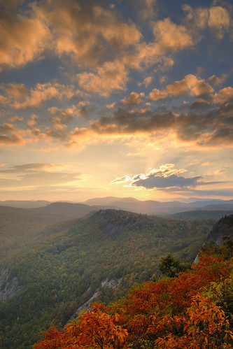 sunset landscape highlands northcarolina whiteside whitesidemountain northcarolinasunset