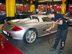 Porsche Carrera GT. Lavado a mano