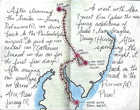 Travel Journal: Pages 19-20 | A map page detailing part of o