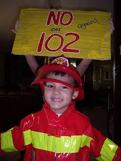 Chief Elliot puts out the fire on 102!