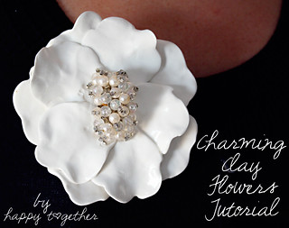 Charming Clay Flower   by ohsohappytogether