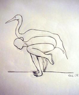 bakasana  the crane pose the bakasana is a yoga pose