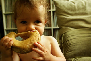 baby and bagel | by leann_b