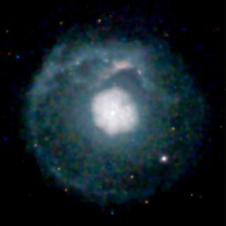 A supernova remnant about 20,000 light years from Earth   by Smithsonian Institution
