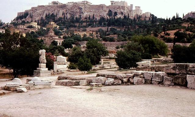 Athen - Akropolis v. röm. Agora aus gesehen
