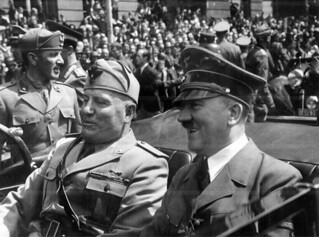 Adolf Hitler and Benito Mussolini in Munich, Germany