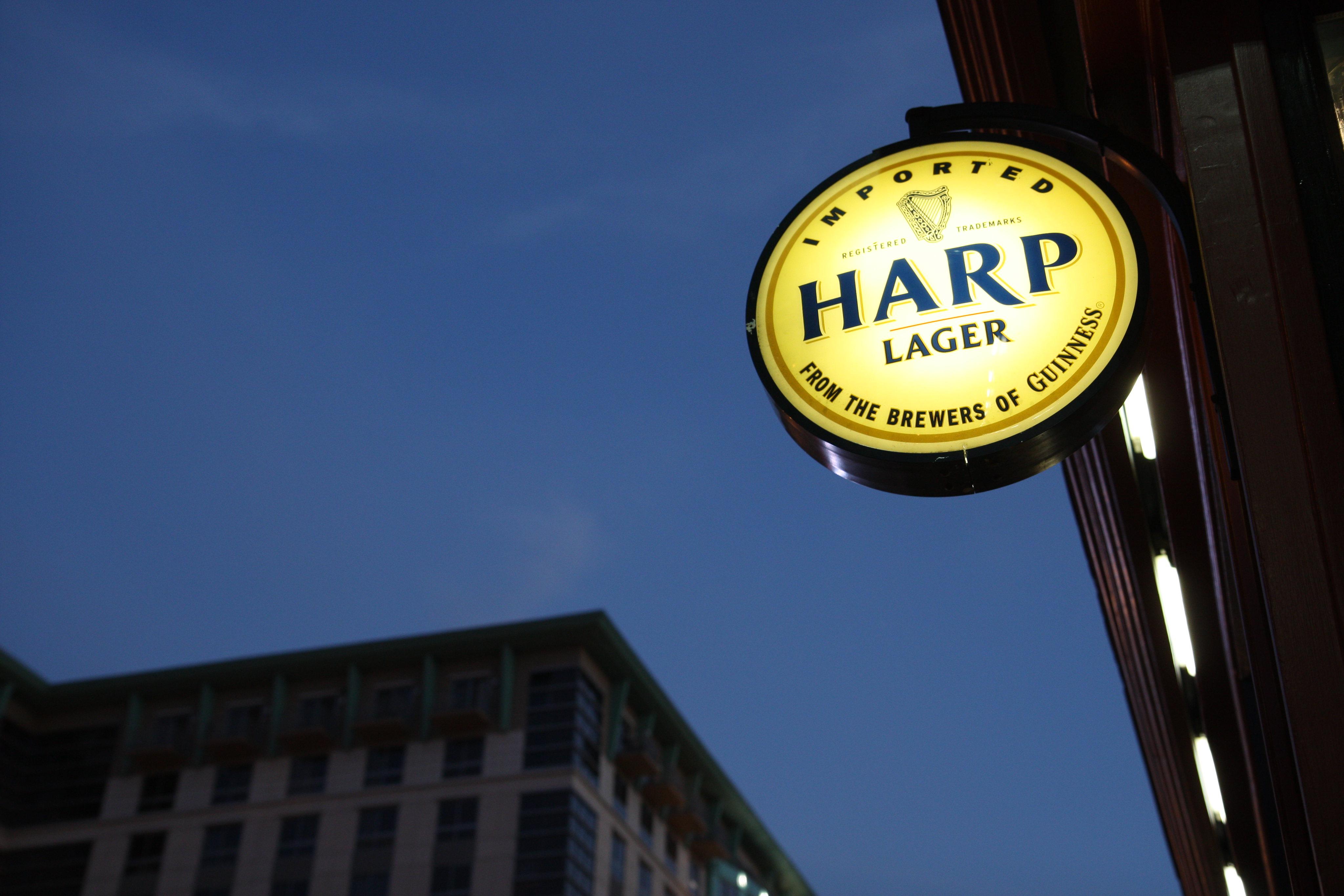 Harp Lager Sign