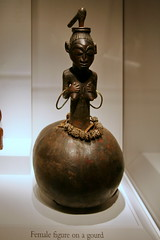 Female figure on a gourd, Akan peoples, Ghana, Late 19th to early 20th century  Terracotta | by cliff1066™