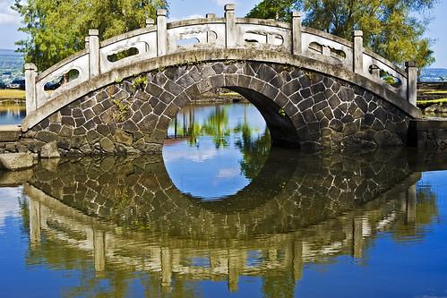 reflection hawaii footbridge bigisland hilo canonef2470mmf28lusm queenliliuokalanigardens