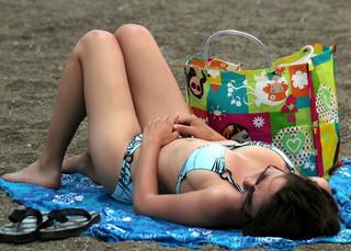 Busty nude beach December