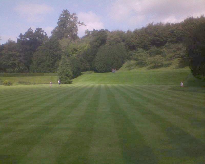 Posh lawn Inside Ightham Mote: Open Heritage Day Sevenoaks Circular