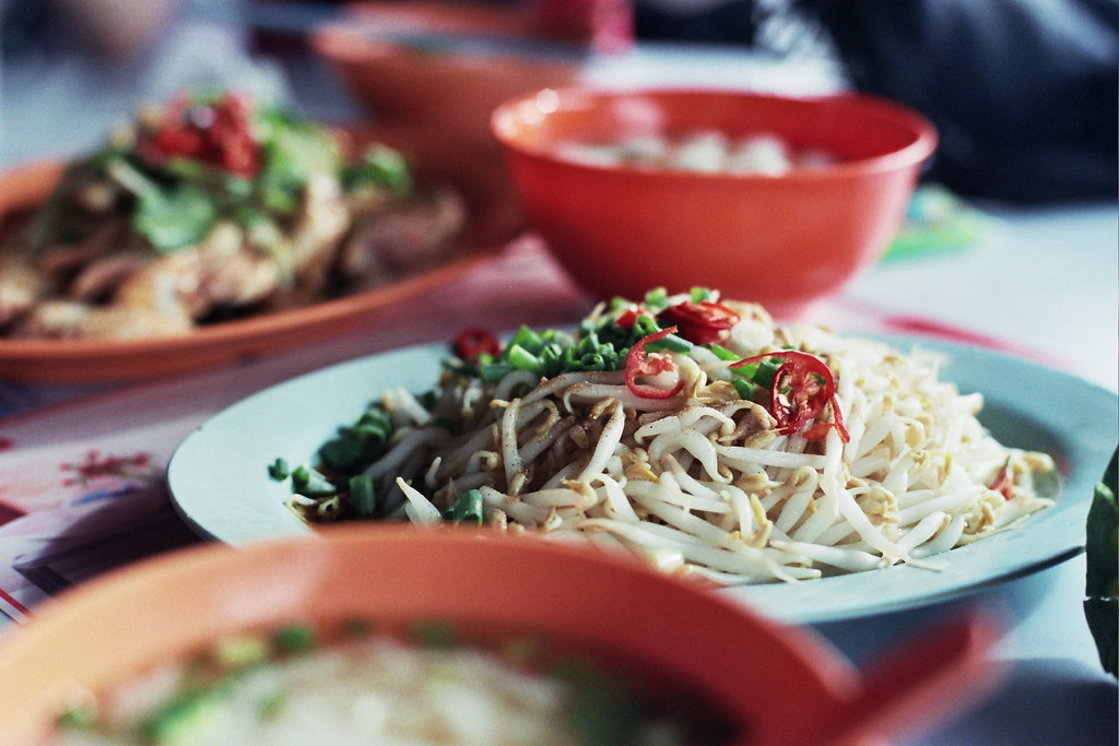 Ipoh : Lou Wong Restaurant : Steamed Taugeh
