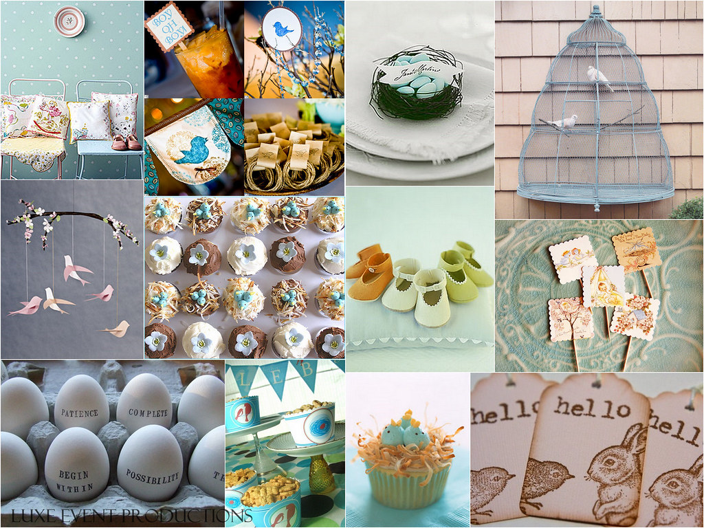 Luxe Style Baby Shower Baby Bird Theme Planning This Flickr