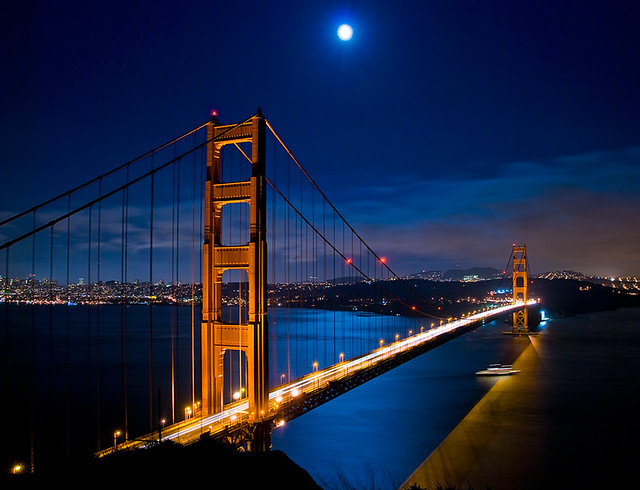 Blue Moon at the Golden Gate