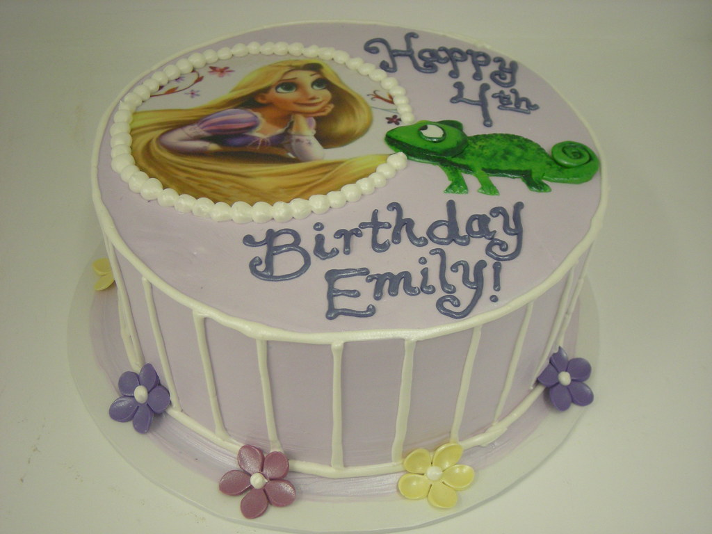 Swell Tangled Birthday Cake 627 Asweetdesign Info 818 363 Flickr Funny Birthday Cards Online Overcheapnameinfo