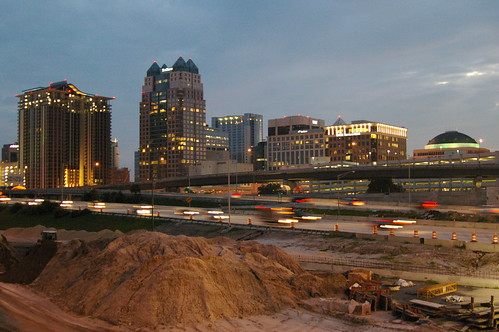 morning sky skyline sunrise dawn orlando construction highway downtown florida dirt i4 photobymikewacht