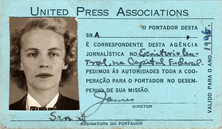 Mother's Brazilian United Press Credentials | by A.Davey