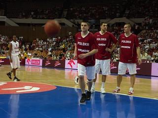 Polscy koszykarze podczas treningu