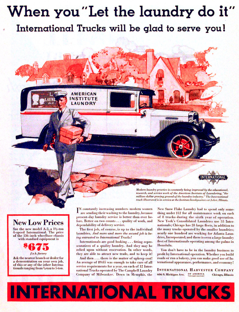 Vintage Advertisement | International truck ad from 1931