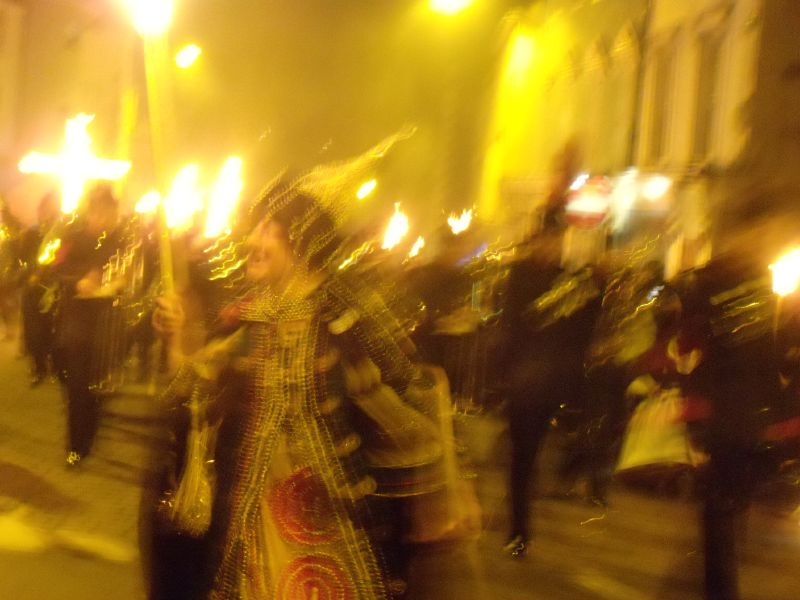 Tudor Lewes circular via Rodmell Lewes bonfire night