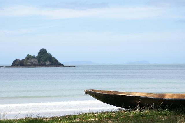 Canoe close to the beach