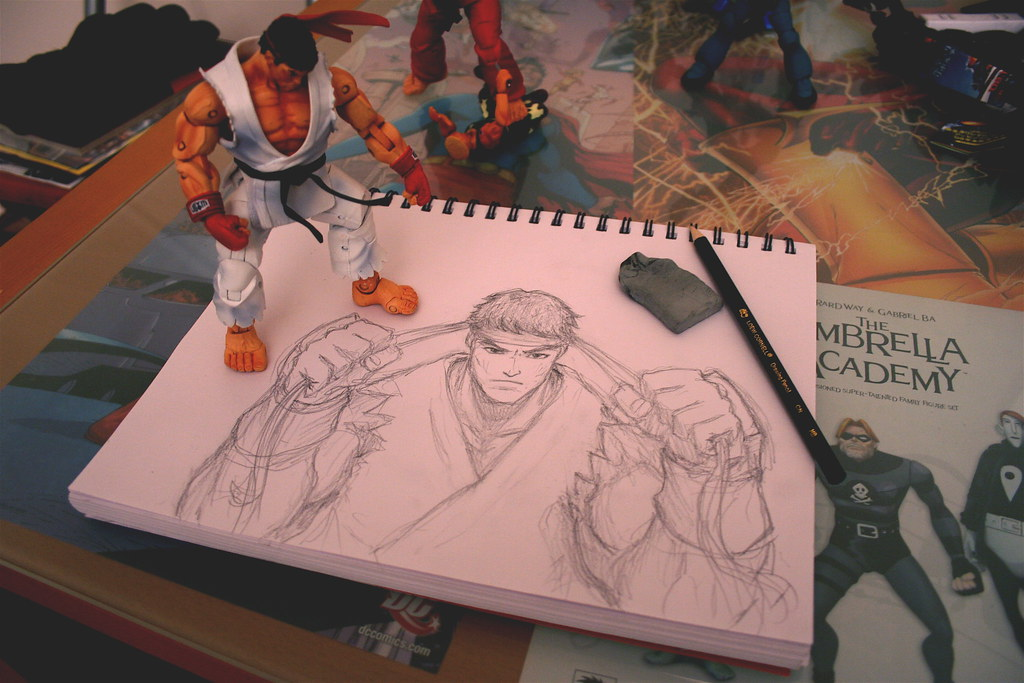 Ryu - Sketch in Progress | More sketching    decided to draw