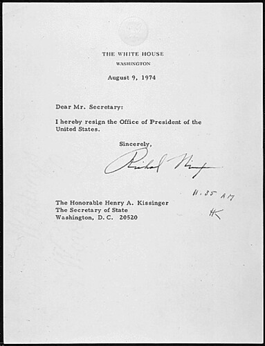 Richard M. Nixon's Resignation Letter, 08/09/1974 | by The U.S. National Archives