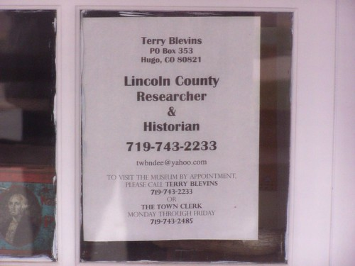 Hours at the Lincoln County Museum, Hugo, Colorado | by J. Stephen Conn