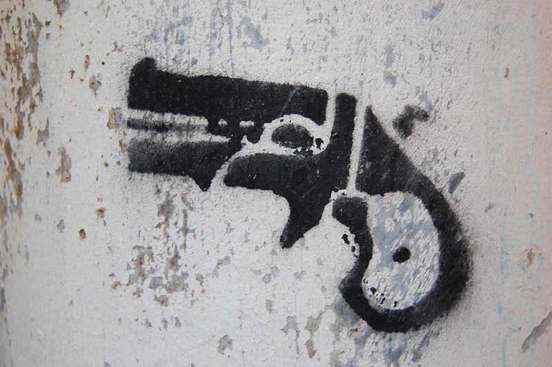 Pistol Stencil