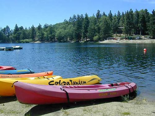 Kayaks on Green Valley Lake
