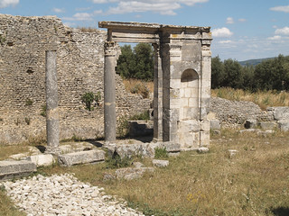 Colonnade in the Temple of Juno Caelestis