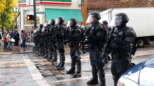 N17 Bank Action Day PDX: 'Riot Police, SW 4th' [2]