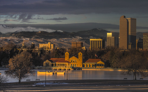 denver milehigh freeze frozen sunrise downtown olympus citypark