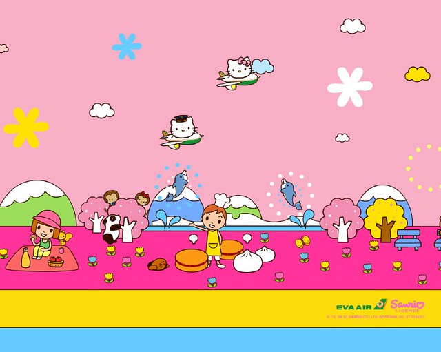 Wallpaper - Sanrio / Eva Air | Hello Pixel | Flickr