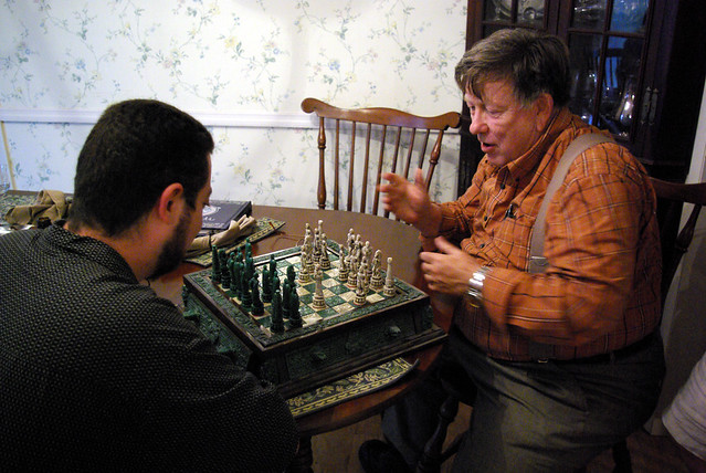 Chuck Beating Dave at Chess, Fourth of July Celebration, Mike's House, Cookeville, TN