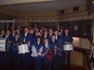 Wolfe Tone Brass & reed Band at a St.Patricks Day parade in Wicklow town a long time ago!