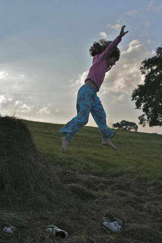 ranch fall kids sunrise evening jumping texas country hay frankston