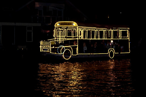 schoolbus on water | by hans s