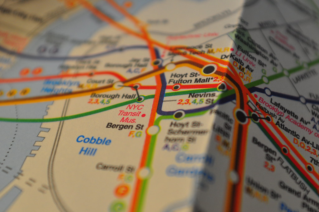 1997 Nyc Subway Map.Downtown Brooklyn 1997 Hagstrom Subway Map Downtown Brook Flickr