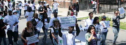 "Marching for Environmental Justice at ""Love Yo Mama"" Earth Day in East Oakland 