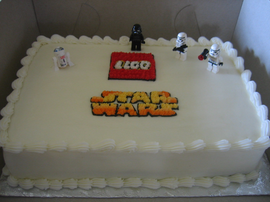 Superb Lego Star Wars Cake Lego Star Wars Birthday Cake With Lego Funny Birthday Cards Online Eattedamsfinfo