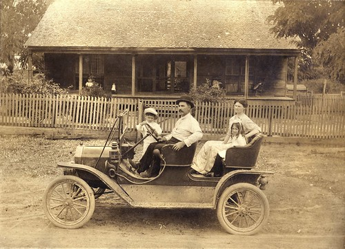 Unidentified family in a Ford Model T Tourabout, c1910 | by crackdog