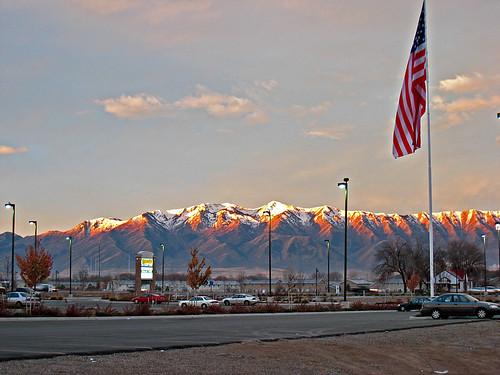 winter usa snow cold southwest sunrise utah providence club100 wellsvillemountains orig:file=img1805 nopin