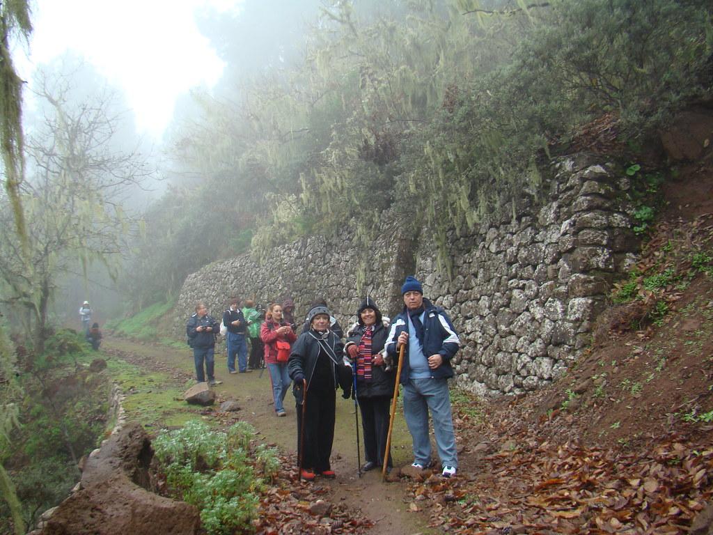 Senderistas invierno cumbre Gran Canaria