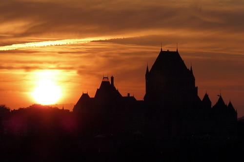 sunset summer canada silhouette été gwen coucherdesoleil vieuxquébec châteaufrontenac