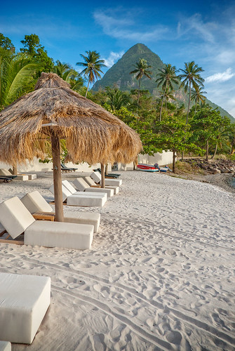St. Lucia | Jalousie Plantation Resort - Beach View of Gros Piton | by Marcus Frank
