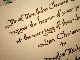Engraved Wedding Invitation, Calligraphy by Lusana Truxell | by stelladanza